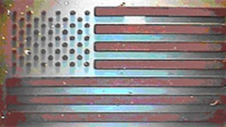 carbon nanotube array US flag created at the University of Cincinnati