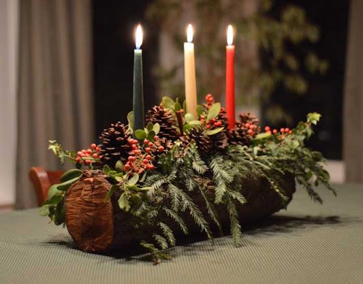 Christmas Candle Centerpieces To Make - Rustic Crafts & Chic Decor