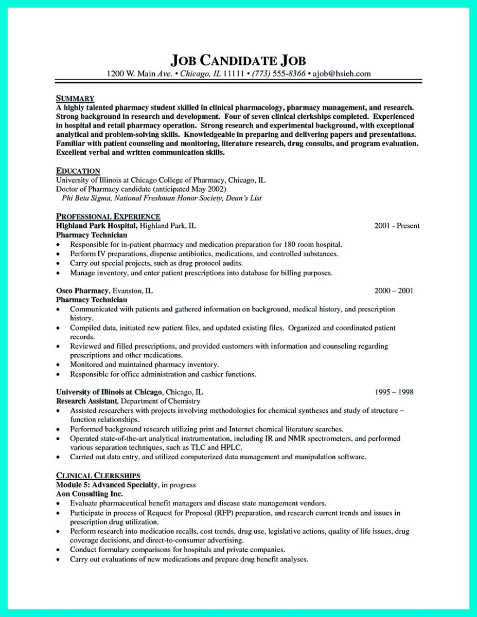 certified pharmacy technician resume and nationally certified pharmacy technician resume