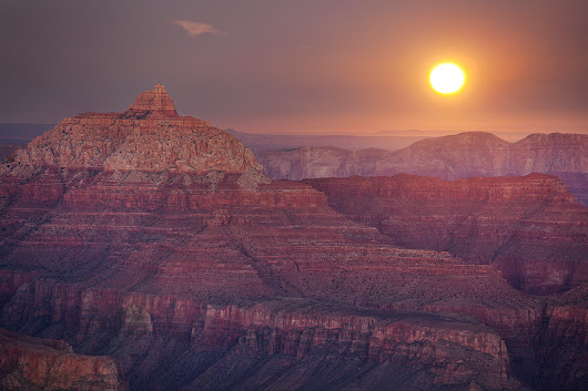 Supermoon Rise – Grand Canyon National Park, Arizona