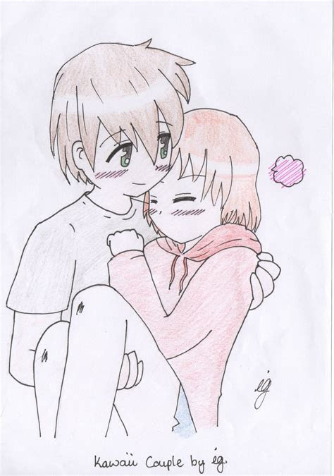 cute anime couple drawing  getdrawingscom