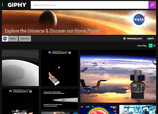 NASA Shares the Universe on Pinterest and GIPHY