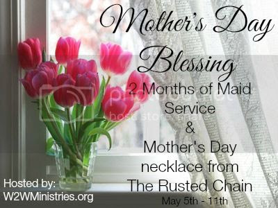 Mother's Day Blessing Giveaway. Win #maidservice and a #rustedchain #necklace. #mothersdayblessing