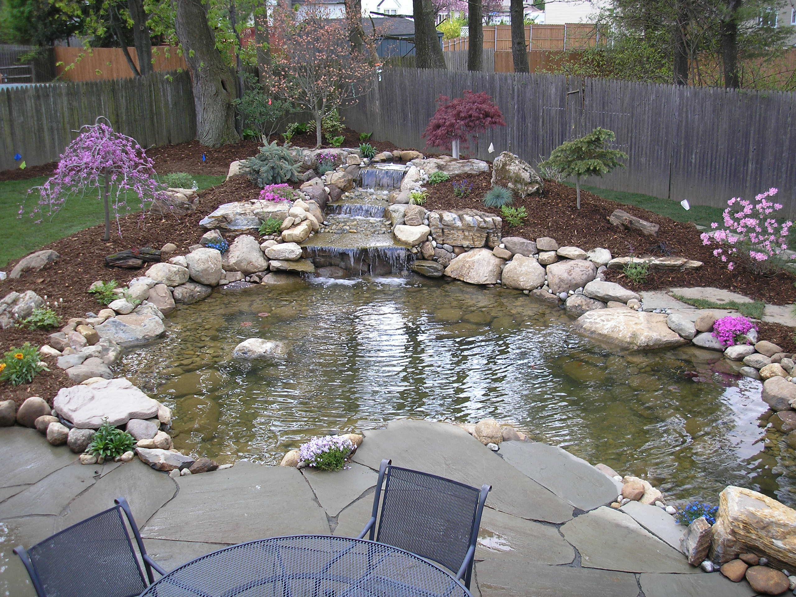 Ideas for garden fish ponds Details ~ Home landscaping on Small Pond Waterfall Ideas id=62513