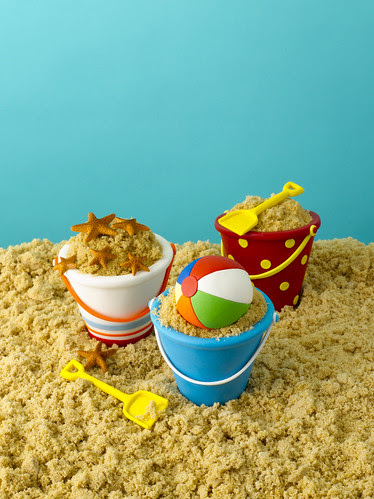 Beach Pail Cupcakes from Confetti Cakes for Kids