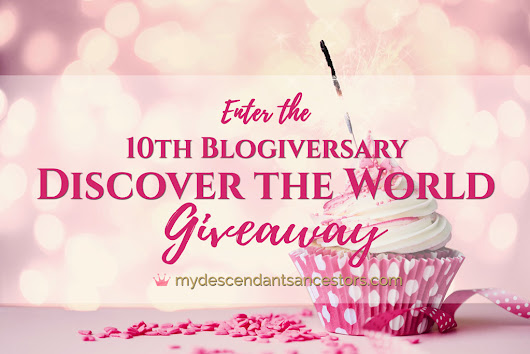 "Enter the ""10th Blogiversary - Discover the World"" Giveaway! 