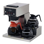 Bloomfield 8571-D3 Koffee King 3 Warmer Right Stepped Pourover Coffee Brewer - 1800W, 120V
