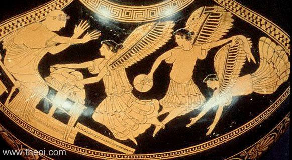 Phineus and the Harpies | Athenian red figure hydria C5th B.C. | The J. Paul Getty Museum, Malibu