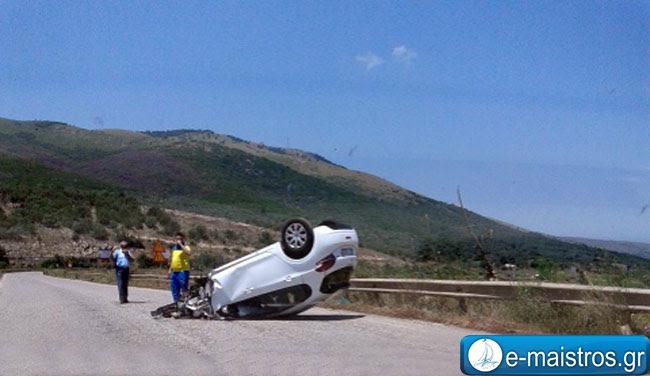 Τροχαίο ατύχημα με ανατροπή στην ΕΟ Αμφιλοχίας – Αντιρρίου