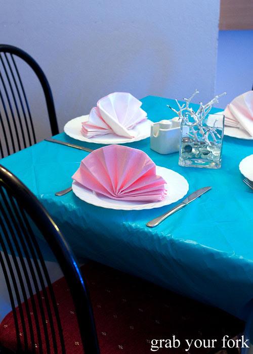 dining room decor at Berezka Restaurant, Russian Club, Strathfield