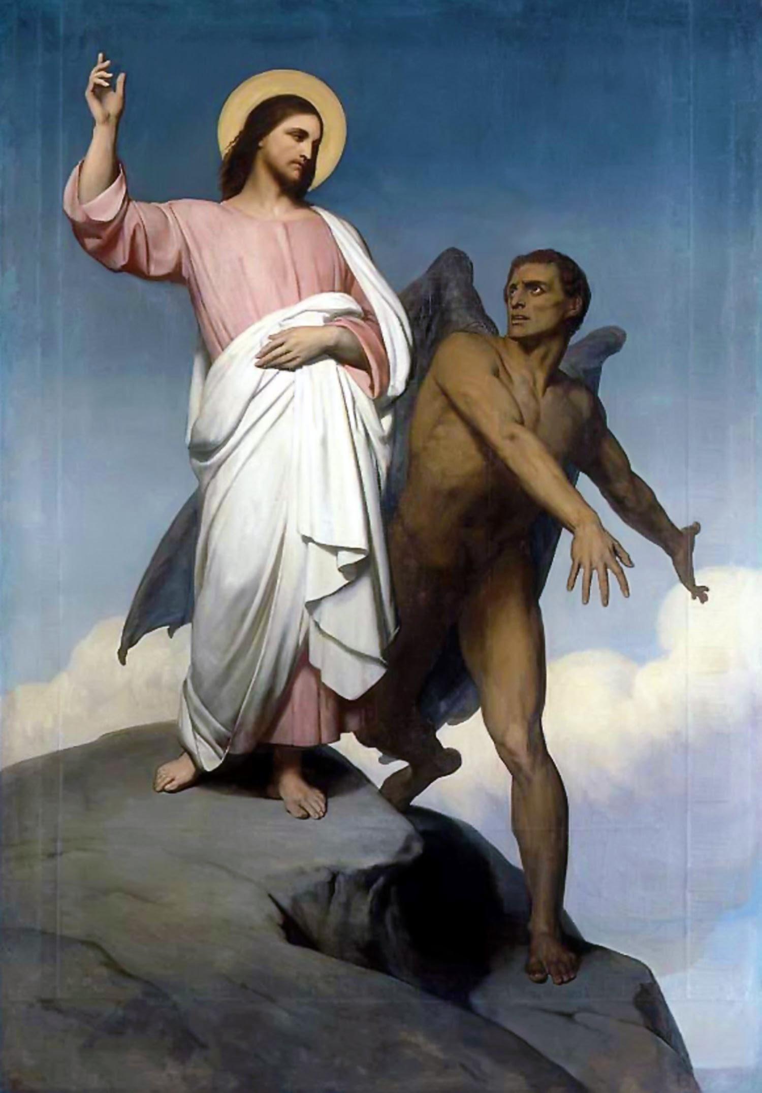 Ary Scheffer: The Temptation of Christ, 1854