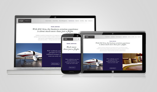 Private Jet charter website specialists - Design Inc