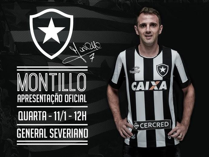 Apresentação Montillo (Foto: Botafogo)