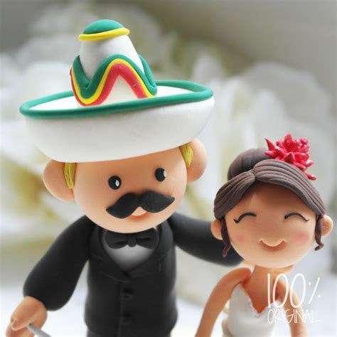 Custom Wedding Cake Topper Mexican Fiesta Theme by