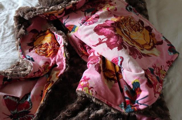 Velveteen and Minky Blanket