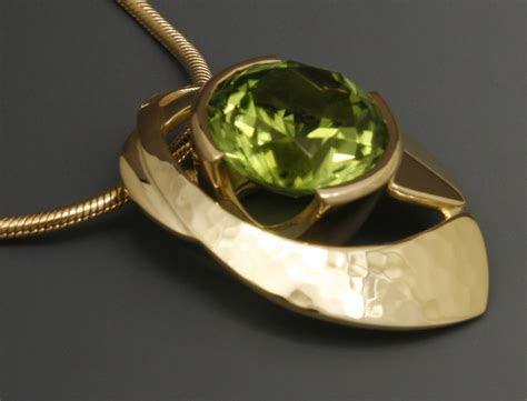 Peridot Pendant, 18K Yellow Gold