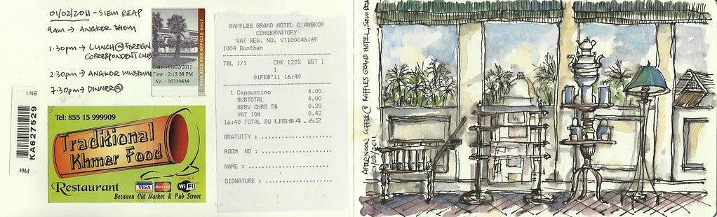 Tea @ Raffles Grand hotel, Siem Reap