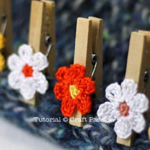 crochet clothespin flower pattern