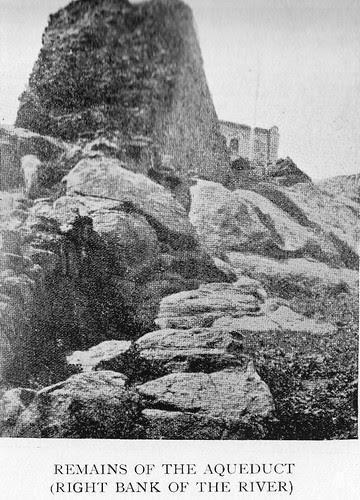 Estribo oeste del acueducto romano de Toledo en el siglo XIX