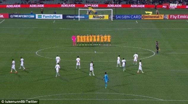 The Saudi Arabian soccer team failed to line up for a minute's silence for the London terror victims on Thursday night