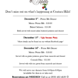 December Events - Centura Hills Golf Club