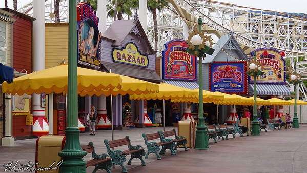Disneyland Resort, Disney California Adventure, Paradise Pier, Umbrellas
