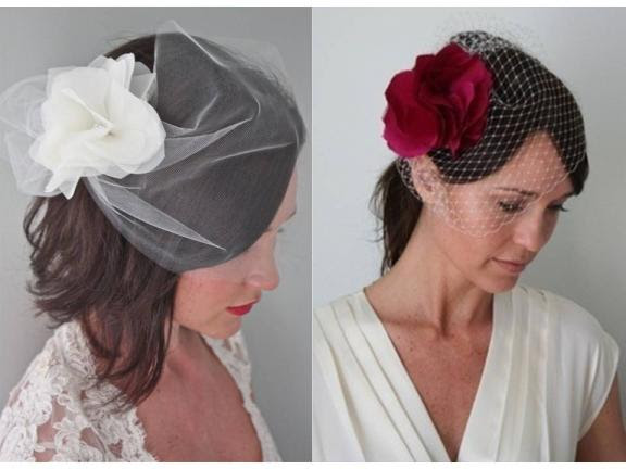 Red Hair Accessories For Weddings
