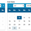 Datepicker Options for WordPress dates - Formidable Forms