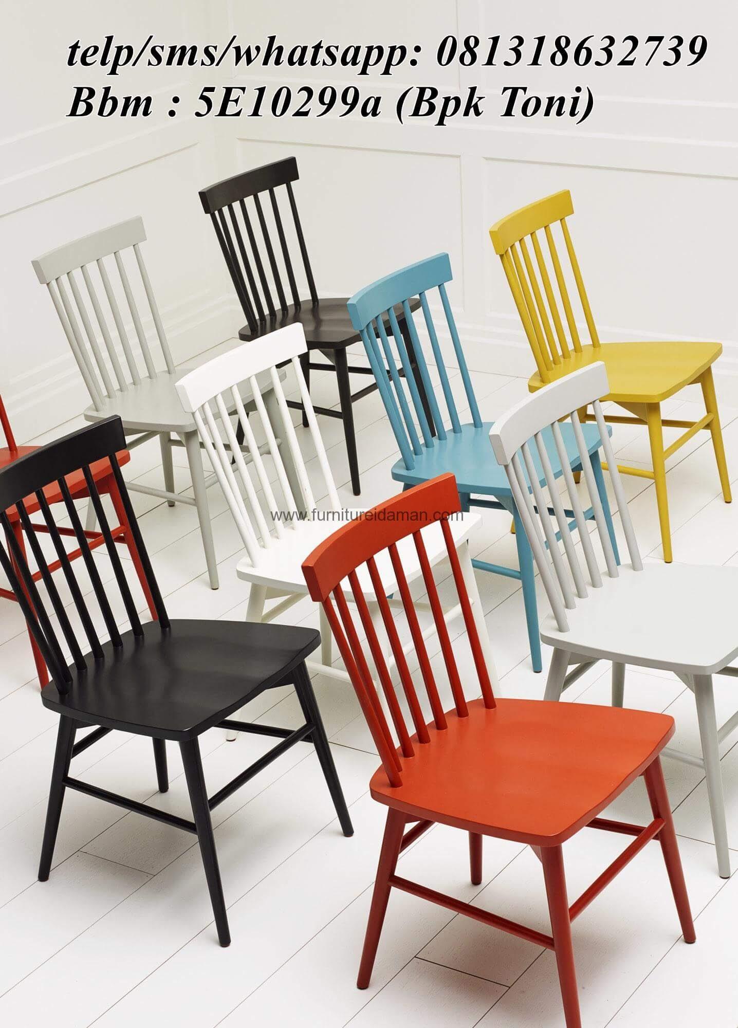 Kursi Resto Cafe Sandaran Jari Warna Duco KCI 95 Furniture Idaman