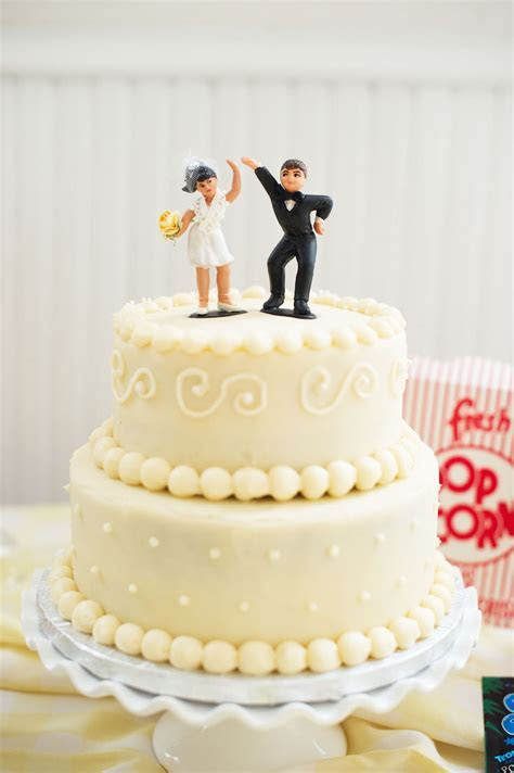 Vintage Style Wedding Cake Toppers