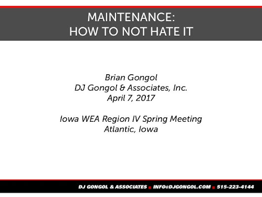 Maintenance: How not to hate it