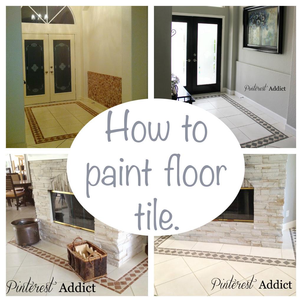 Painting Floor Tile - Pinterest Addict