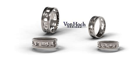 JWO Jewelers   Von Hoch Designs Honor Ring 950PT Solid