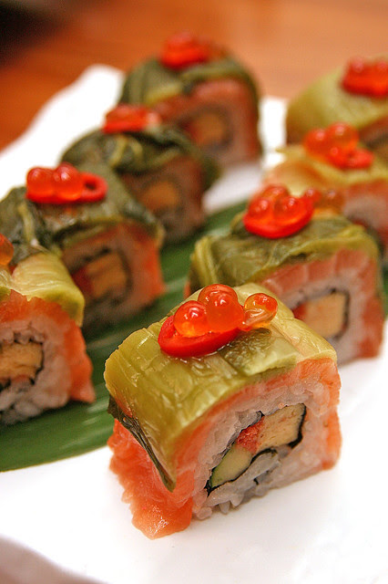 Mentai Salmon Takana Roll