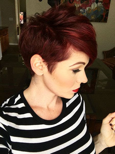 red hair color  short hair short hairstyles