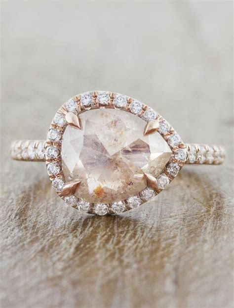Audrix: Rustic Pink Diamond Rose Gold Ring   Ken & Dana Design