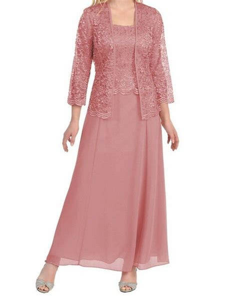 Womens Long Mother of the Bride Plus Size Formal Lace