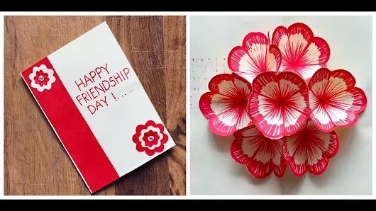Mangesh jadhav google 3d flower pop up card friendship day greeting card handmade card m4hsunfo