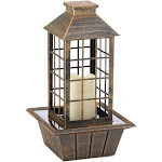 Gallery of Light BRONZED LANTERN TABLETOP FOUNTAIN (INCL. PUMP) POLYRESIN, LED