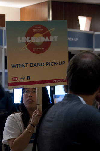 "Wrist Band Pick-Up, Oracle Appreciate Event ""Legendary"", JavaOne 2011 San Francisco"