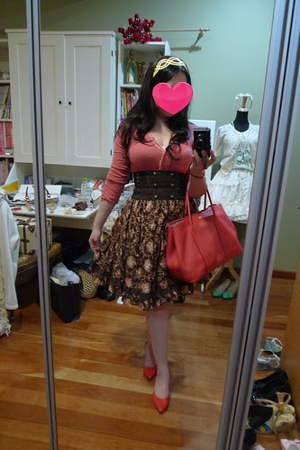 Loli-Inspired Coord: Brown & Coral