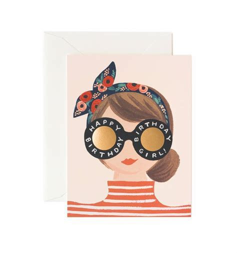 Birthday Girl Greeting Card by RIFLE PAPER Co.   Made in USA