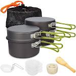 camping cookware set campfire cooking utensils folding cookset
