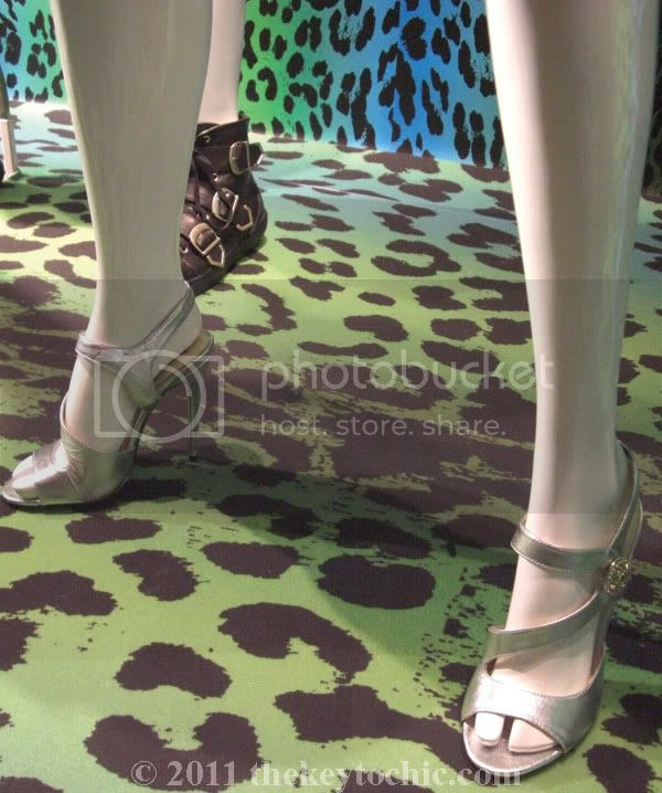 Versace for H&M silver heels