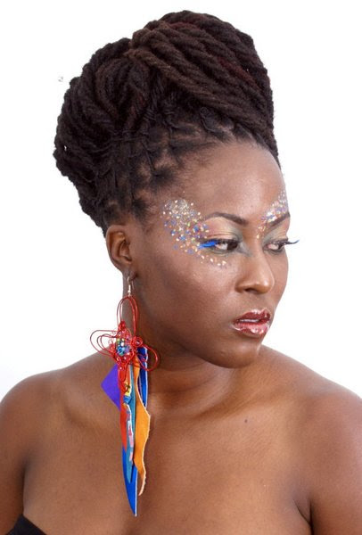High Updo  Locs  Hairstyle