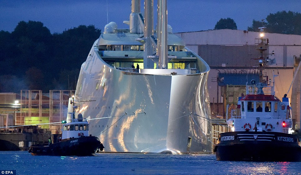 The original plans for Sailing Yacht A have now become a reality for the wealthy Russian businessman Andrey  Melnichenko