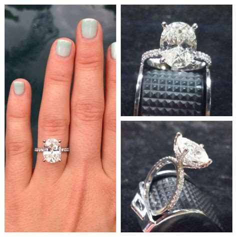 My Ring! Oval diamond in a pave basket setting   Diamonds