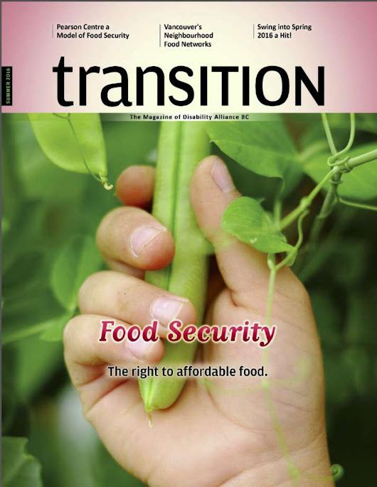 Transition Summer 2016 | Food Security: The Right to Affordable food.