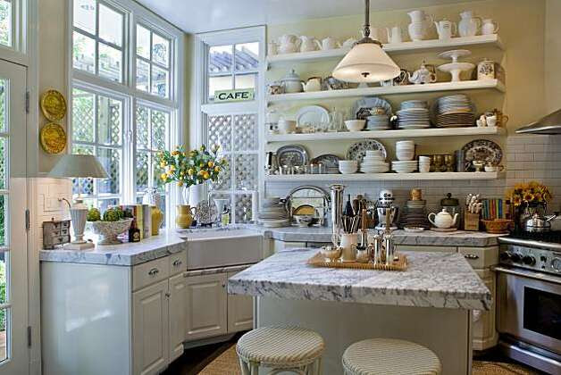 Kitchen of an Edwardian home owned by two former executives of Williams-Sonoma in San Francisco, California on Mar. 4, 2010. Photo: Peter DaSilva, Special To The Chronicle