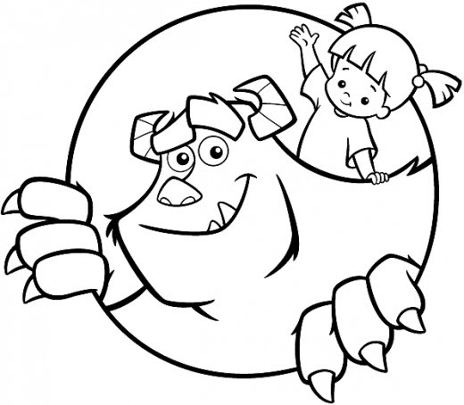 Printable Monsters Inc Coloring Page